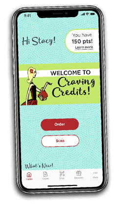 Iphone with Craving Credits App
