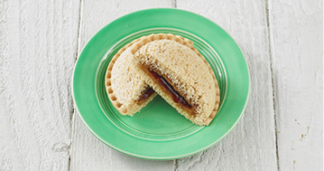 Peanut Butter and Jelly Uncrustable Sandwich