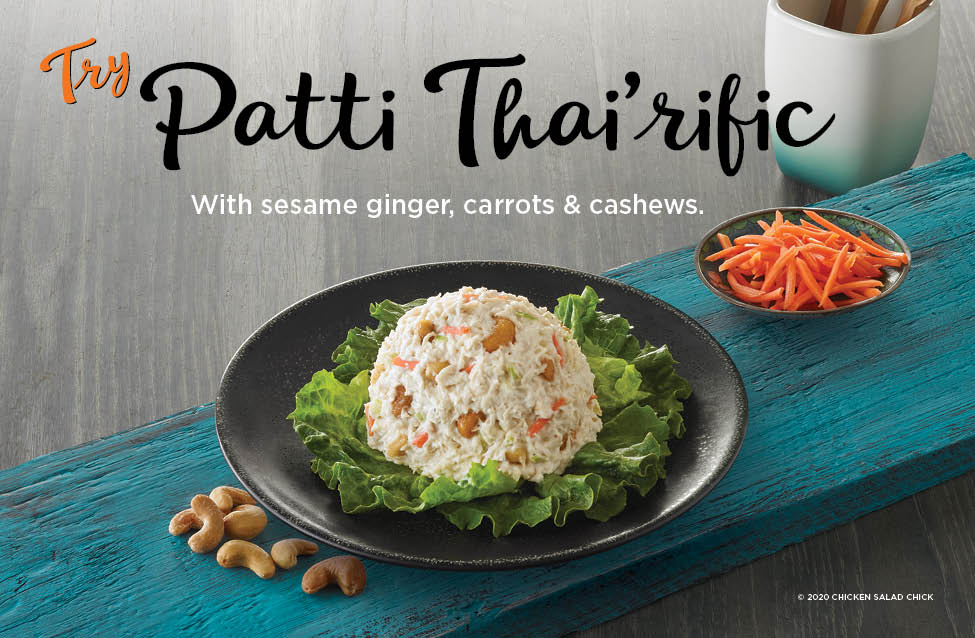 Try our new Limited Time Offer Patti Thai-rific!! With Sesame ginger, Carrots & cashews.