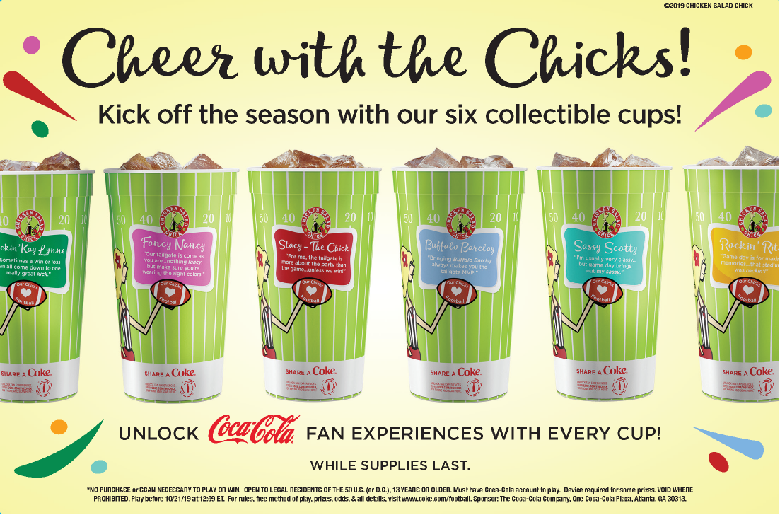 Cheer with the Chicks! Kick off the season with our six collectible cups!